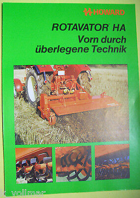 ✪altes Original Landmaschinen/Trecker Prospekt Howard Rotavator HA   4 Seiten