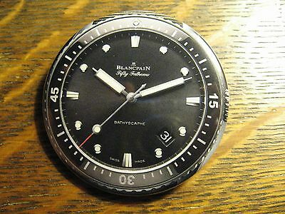 Blancpain Fifty Fathoms Bathyscaphe Swiss Made Watch Advertisement Button Pin