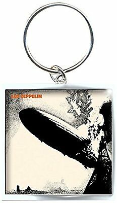 Led Zeppelin Zep 1 Image Picture Square Metal Keychain Keyring Fan Gift Official