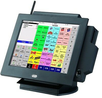 SENOR APOS 750 POS All-in-one complete station 4GB with MSR Windows 7 NEW