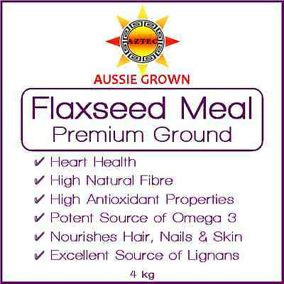 Flaxseed/Linseed Meal (Ground Seed) 4kg - Premium Grade Australian