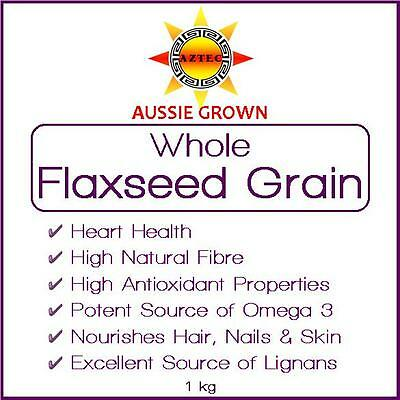Flaxseed/Linseed Grain 1kg - Clean and Pure Australian