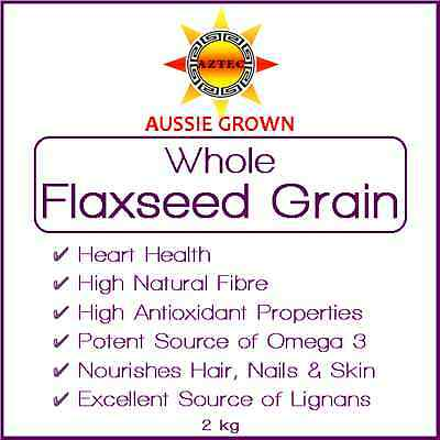 Flaxseed/Linseed Grain 2kg - Clean and Pure Australian