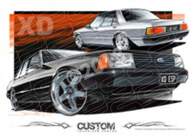 1980 FORD XD FALCON CUSTOM  FRAMED PRINT (D023)-New_Itemq