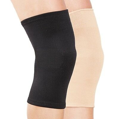 Black Beige White Knee Support Sleeve Elastic Leg Sleeve Gym Sport Running Pain