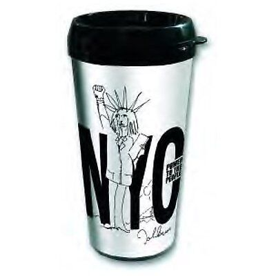 John Lennon Power To The People Plastic Vacuum Travel Coffee Mug 100% Official