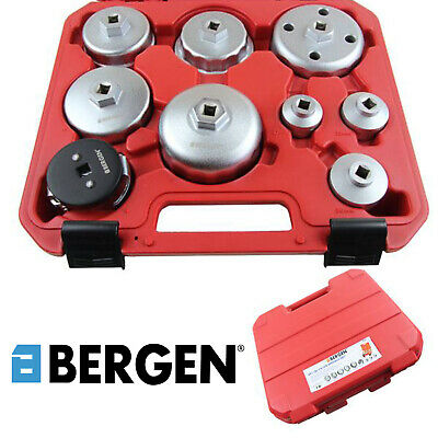 BERGEN Tools 9pc Oil Filter Wrench and Cup / Socket, Sockets Kit, Set NEW 3030