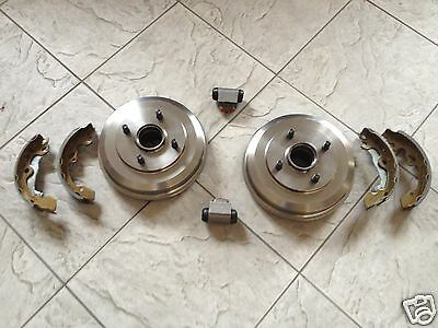 Ford Focus (98-05) Two Rear Drums/ Fitted Bearings + A Set Of Shoes+ 2 Cylindres