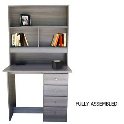 Bedroom Furniture  Brand New Desk and Hutch In grey woodgrain colour/4 drawers