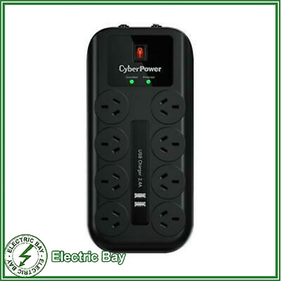 CyberPower 8 Port Surge Protector with Network Phone Coax Protection Power Board