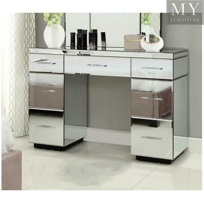 RIO Mirrored Dressing Table Console 7 Drawer - Mirror Furniture