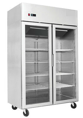 Showcase Chiller Heavy Duty Commercial Double Door Upright Gastronome