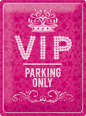 VIP Parking Only Blechschild 30x40 cm 23184 Pink Strass