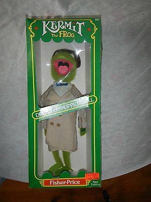 Vintage Kermit The Frog Fisher Price Muppet Doll #857