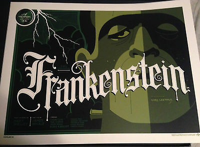 Tom Whalen Reg Ed FRANKENSTEIN Print - Universal Classic Monsters Folio Set Rare