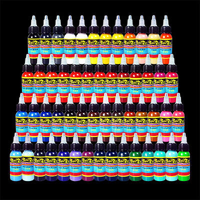 Solong Tattoo Ink 54 Colors Set 1oz 30ml/Bottle Tattoo Pigment Kit DHL shipping
