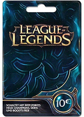 League of Legends €10 Key [DE] Digital Code LoL Prepaid Card Karte 10 EUR Euro