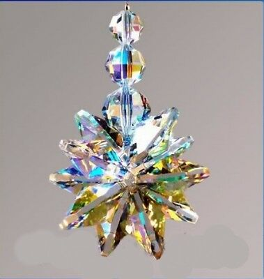 Extra Large Crystal AB Cluster Made With Swarovski Crystals - Gift Box