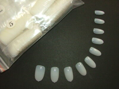 600 Short To Medium Oval Full Cover False Nails - Fast Dispatch