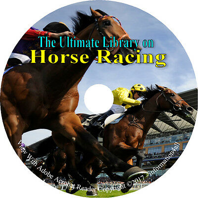 62 Vintage Books on DVD, Ultimate Library on Horse Racing, Race Horses Training