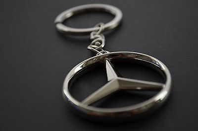 Stainless Keyring Key Ring Key Chain with Mercedes Benz Logo