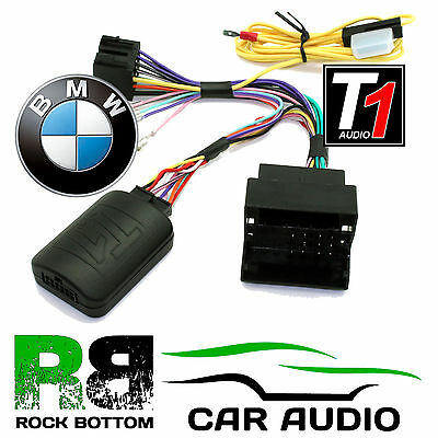 T1 Audio T1-BM5 BMW 1 3 5 6 7 Series Mini Car Steering Wheel Adaptor FREE PATCH
