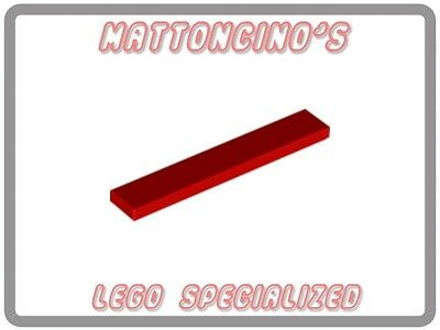 LEGO 2x 6636 Red Tile 1 x 6 NEW
