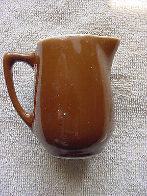 "Brown Shenango China New Castle Creamer Pitcher individual handled VGC 2.5"" 601"