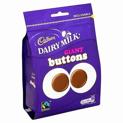 10 x  119g BAGS OF CADBURYS GIANT CHOCOLATE BUTTONS