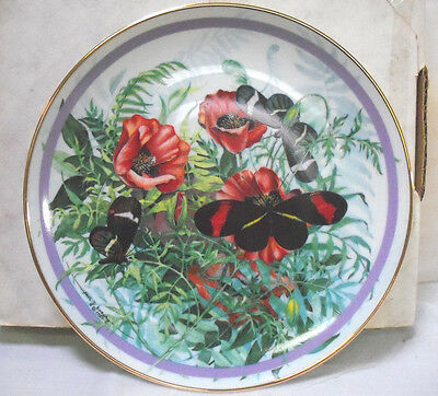 Crimson Patched Songwing (Paul J. Sweany) Butterfly Garden NIB Plate (B-20)