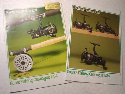 2 Ryobi Masterline Advertising Fishing Catalogues For 1984, Coarse And Game