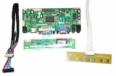 DVI LCD led Controller Board lvds Kit For LP141WX1 A2 VGA HDMI Audio TL