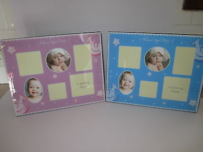 Baby Photo Frames Memories Mutiple Photo spaces  PINK or BLUE