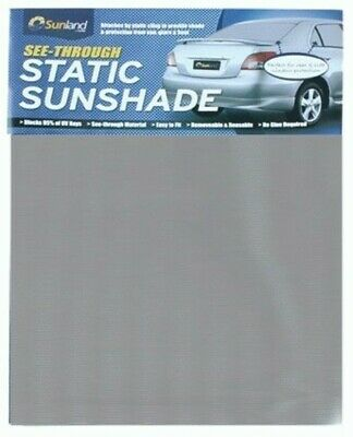 See-Thru Static Cling Sunshade Silver