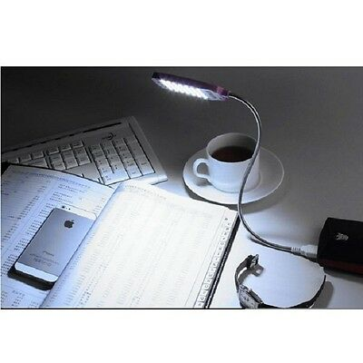 Fashion New Arrive USB 28 LED Flexible Clip-on Book Light Reading Lamp ONE