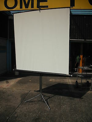 Ex Government Freestanding Portable Compact Overhead Projector Screen  150 X 145