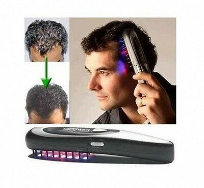 Power Grow Laser Comb Kit Stop Hair Loss Laser Hot Massage Regrow DHT Therapy