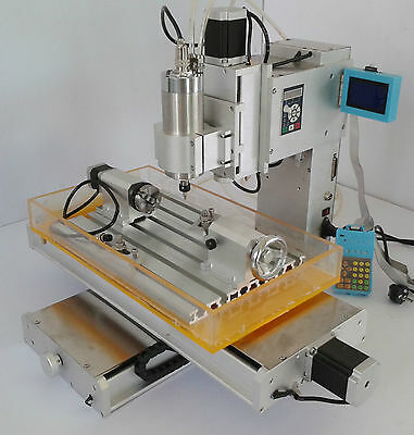 4 Axis CNC 3040 Table  Engraving Machine Column Type High-pricision Ball Screw