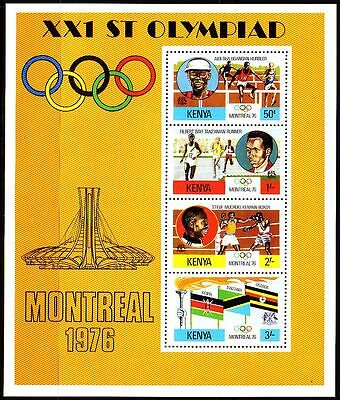 Kenia Kenya 1976 ** Bl. 2 Olympische Spiele Olympic Games Boxen Boxing  [sq2804]