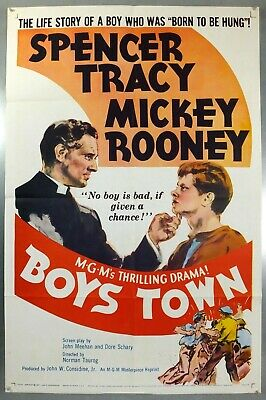 Boy's Town - Spencer Tracy / Mickey Rooney - Original American 1Sht Movie Poster