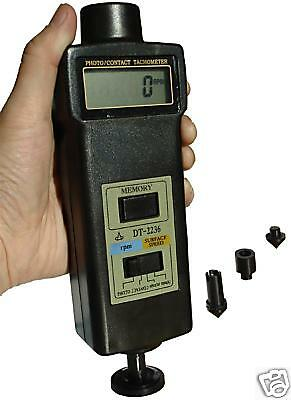Digital Tachometer Laser PHOTO CONTACT rpm m/min ft/min
