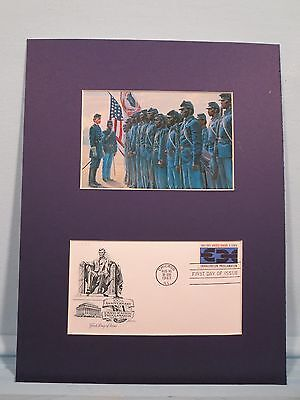 Colonel Robert Shaw inspecting the 54th Massachusetts Regiment & First Day Cover