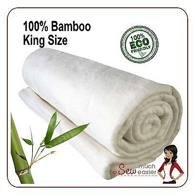 Bamboo Quilting Batting for Quilts Patchwork fabric King Size Quilt Wadding NEW