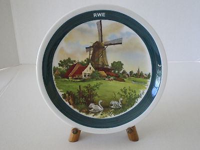 Hand Decorated Dutch Windmill Decorative Plate /  Royal Schwabap Netherlands