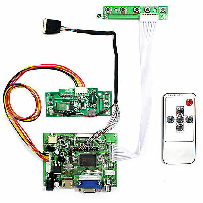 HDMI VGA 2AV LCD Driver Board work for 15.4 Inch Resolution 1440x900 lcd panel