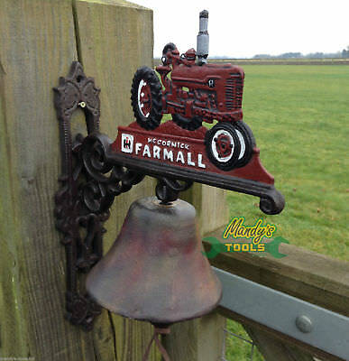 Cast Iron Bell Reliable Red Farmall International McCormick Tractors  Farm Bell