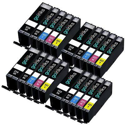20 Cartouches d'encre (Set) pour Canon Pixma iP7250 MG5550 MG6650 MG5450