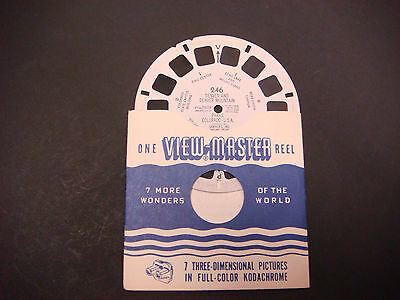 Sawyer's Viewmaster Reel,1949,Denver & Denver Mtn,Parks,Colorado,Echo Lake, 246
