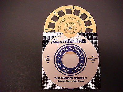Sawyer's Viewmaster Reel,Hand Lettered,Yellowstone Nat'l Park Wyoming, 128