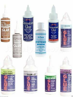 Trim-it, Fray Stop, Fabric Glue ,No Sew, Gemstone, Stiffener, Gutermann Glue